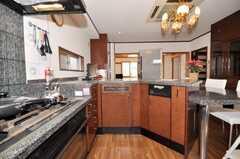 シェアハウスのキッチンの様子。(2009-10-29,共用部,KITCHEN,4F)