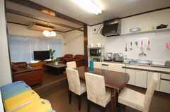 シェアハウスのラウンジの様子。(2008-11-07,共用部,LIVINGROOM,1F)