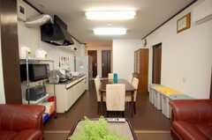 シェアハウスのラウンジの様子5。(2008-11-07,共用部,LIVINGROOM,1F)