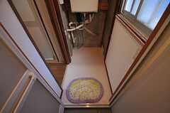 シャワールームの脱衣室。(2013-05-07,共用部,BATH,1F)