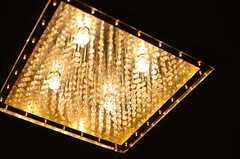 照明はラグジュアリーな雰囲気。(203号室)(2013-10-07,専有部,ROOM,2F)