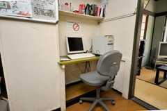 共用PCの様子。(2009-03-10,共用部,PC,2F)
