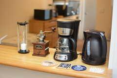 コーヒー器具が揃っています。(2018-02-15,共用部,LIVINGROOM,3F)