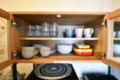 食器棚の様子。(2018-02-15,共用部,KITCHEN,3F)