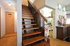 階段の右手奥がキッチンです。(2016-01-14,共用部,OTHER,2F)