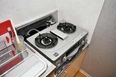 ガスコンロの様子。(2010-01-13,共用部,KITCHEN,1F)