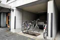 自転車置場の様子。(2010-02-18,共用部,GARAGE,1F)