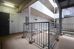マンション内の廊下の様子。(2014-08-27,共用部,OTHER,3F)