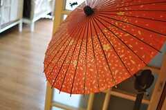 This is japanese umbrella。(2012-11-12,共用部,LIVINGROOM,8F)