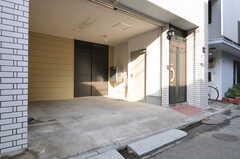 自転車置場の様子。  (2012-11-29,共用部,GARAGE,1F)