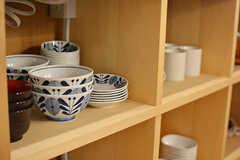 ヒーターの下が食器棚です。(2017-02-21,共用部,KITCHEN,1F)