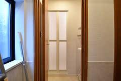 脱衣室の様子。(2017-02-21,共用部,BATH,2F)