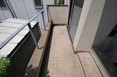 専有部のベランダの様子。(404号室)(2011-07-12,専有部,ROOM,4F)