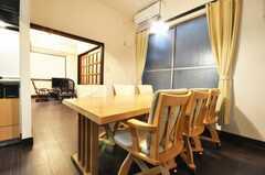 シェアハウスのラウンジの様子3。食事はコチラで摂ることが多くなりそう。(2010-02-03,共用部,LIVINGROOM,1F)