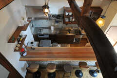 上からキッチンを見下ろすとこんな感じ。(2010-08-16,共用部,OTHER,3F)
