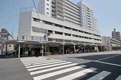 シェアハウスの外観。1階が商店街の店舗、2~4階がシェアハウスになっています。(2011-08-10,共用部,OUTLOOK,1F)