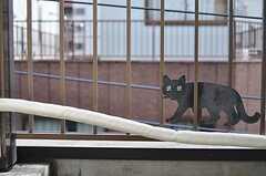 アイアンのネコのオブジェ。(401号室)(2012-04-10,専有部,ROOM,4F)