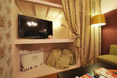 共用TVの様子。(2011-03-01,共用部,TV,2F)