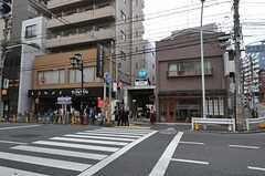 東京メトロ千代田線・千駄木駅の様子。(2011-11-03,共用部,ENVIRONMENT,1F)