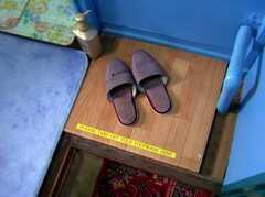 バスルーム前の脱衣所はもちろん土足NG。(2006-09-27,共用部,OTHER,3F)