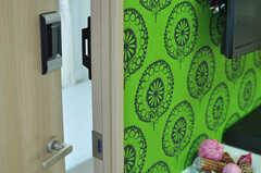 専有部の鍵もナンバー式です。(301号室)(2012-10-19,専有部,ROOM,3F)