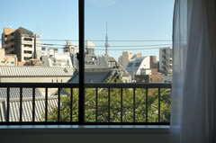 窓からの景色。(404号室)(2012-10-19,専有部,ROOM,4F)