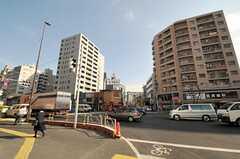 東京メトロ日比谷線・入谷駅前の様子2。(2011-01-11,共用部,ENVIRONMENT,1F)