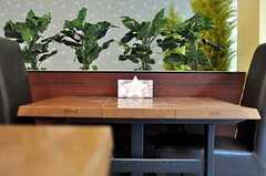 カフェテーブルに置かれたナプキン立ては星形です。(2012-04-18,共用部,LIVINGROOM,)