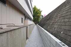 エントランス脇の通路突き当たりに、駐輪場があります。(2012-04-18,共用部,OTHER,1F)