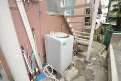 洗濯機の様子。(2009-06-04,共用部,LAUNDRY,1F)