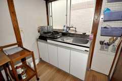 キッチンの様子。(202号室)(2009-06-04,共用部,KITCHEN,2F)