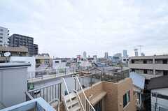 外階段からはサンシャインも見えます。(2013-12-09,共用部,OTHER,5F)