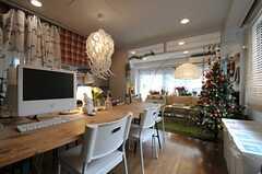 クリスマスバージョンのリビング。(2013-12-09,共用部,LIVINGROOM,2F)