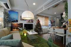 クリスマスバージョンのリビング3。(2013-12-09,共用部,LIVINGROOM,2F)