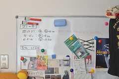 インフォメーションボードの様子。(2013-12-09,共用部,LIVINGROOM,2F)