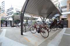 自転車置き場の様子。(2015-07-07,共用部,GARAGE,1F)