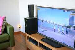 TVの様子。(2014-12-13,共用部,TV,2F)