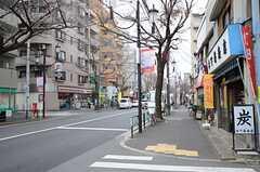 シェアハウスから西武池袋線・江古田駅へ向かう道の様子。(2013-02-14,共用部,ENVIRONMENT,1F)