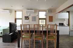 ダイニングテーブルの様子。(2012-02-22,共用部,LIVINGROOM,1F)
