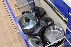 シンクの下は共用の鍋がされています。(2017-01-23,共用部,KITCHEN,3F)