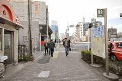 各線駒込駅からシェアハウスへ向かう道の様子。(2010-02-09,共用部,ENVIRONMENT,1F)