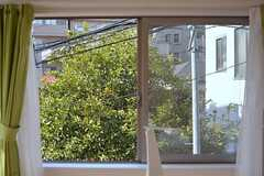 窓からはナツミカンの木が見えます。(203号室)(2015-03-07,専有部,ROOM,2F)