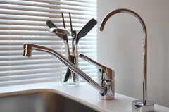 手前の蛇口は浄水器です。(2012-02-20,共用部,KITCHEN,2F)