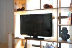 共用TVの様子。(2012-02-20,共用部,TV,2F)