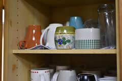 食器棚の様子。(2018-04-06,共用部,KITCHEN,1F)