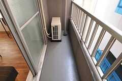 ベランダの様子。(307号室)(2013-03-21,専有部,ROOM,3F)