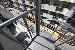 螺旋階段の様子。高さがあります。(2013-03-21,共用部,OTHER,5F)