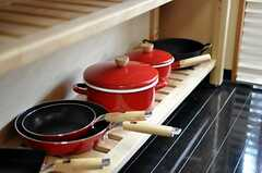 調理器具の様子。(2010-04-09,共用部,KITCHEN,1F)