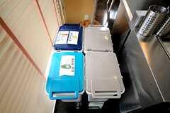 ゴミ箱の様子。(2010-04-09,共用部,KITCHEN,1F)