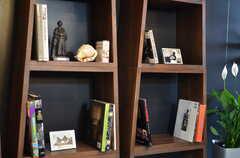 本棚には様々な写真集が並んでいます。(2012-04-09,共用部,LIVINGROOM,2F)